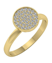 Load image into Gallery viewer, Designer Anniversary Ring SI1 G 0.35 Ct Natural Diamond 14k White Yellow Rose Gold