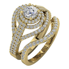 Load image into Gallery viewer, Natural Diamond Bridal Ring Set 14k Yellow Gold