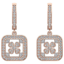 Load image into Gallery viewer, 14k Solid Gold Earring Set Genuine Diamond