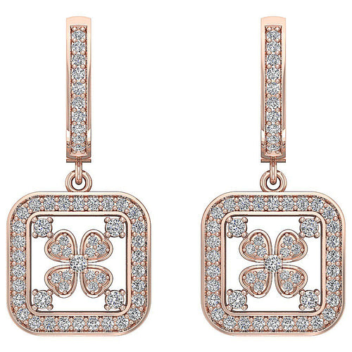 14k Solid Gold Earring Set Genuine Diamond