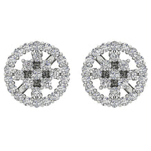 Load image into Gallery viewer, 14k White Gold Earring Set Genuine Diamond