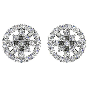 14k White Gold Earring Set Genuine Diamond