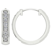 Load image into Gallery viewer, Genuine Diamond Earring Set 14k White Gold