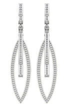 Load image into Gallery viewer, 14k White Gold Earring Set Natural Diamond