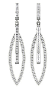 14k White Gold Earring Set Natural Diamond