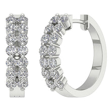 Load image into Gallery viewer, 14k Solid Gold Designer Earring Set Natural Diamond