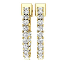 Load image into Gallery viewer, Earring Set Natural Diamond 14k Solid Gold