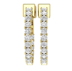 Earring Set Natural Diamond 14k Solid Gold
