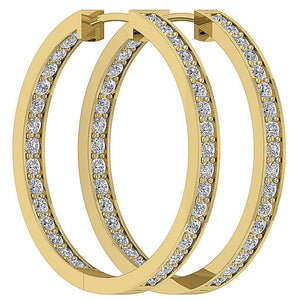 14k Solid Gold Designer Earring Set Natural Diamond