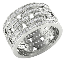 Load image into Gallery viewer, Natural Diamond Eternity Ring 14k White Gold