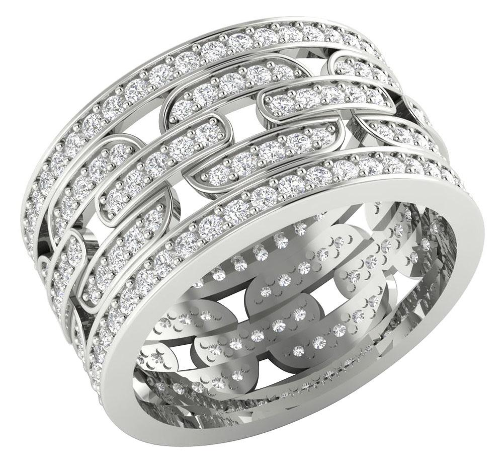 Natural Diamond Eternity Ring 14k White Gold