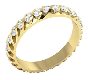 14k Yellow Gold Designer Eternity Ring