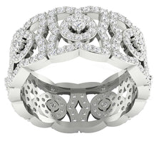 Load image into Gallery viewer, 14k White Gold Designer Eternity Ring