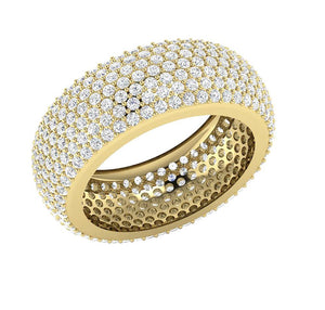 14k Solid Gold Natural Diamond Eternity Ring