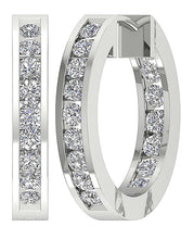 Load image into Gallery viewer, 14k White Gold Designer Antique Earring Set