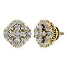 Load image into Gallery viewer, Designer Antique Earring Set 14k Yellow Gold