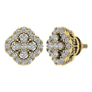 Designer Antique Earring Set 14k Yellow Gold