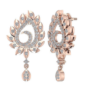 14k Rose Gold Antique Style Earring Set