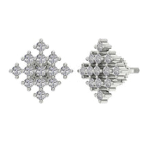 Load image into Gallery viewer, Round Diamond Earring Set 14k White Gold