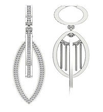 Load image into Gallery viewer, 14k White Gold Designer Unique Earring Set