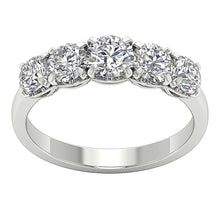 Load image into Gallery viewer, 14k White Gold Designer Anniversary Ring-DFR55