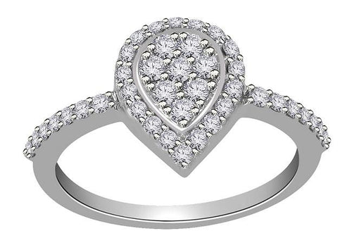 Vintage Engagement White Gold Ring-RHR 140