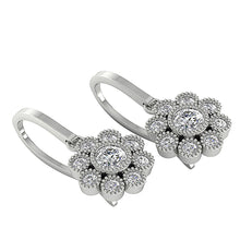 Load image into Gallery viewer, Halo Round Diamonds Earrings-DE108