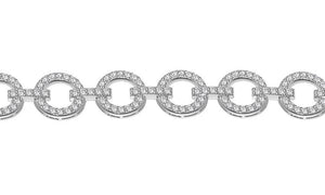 Designer Bracelet VS1/SI1/I1 14k Solid Gold G 3.50 Ct Round Diamonds Pave Set