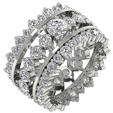Load image into Gallery viewer, Designer Bridal Ring Set 14k White Gold Prong Set-CR-194
