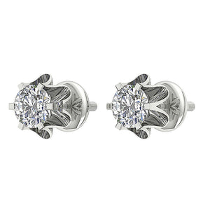 Screw Back Stud Earrings-DE191