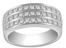 Load image into Gallery viewer, Engagement Wedding White Gold Ring-RHR-23