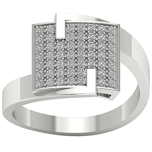 Right Hand Wedding White Gold Ring-RHR-29-1
