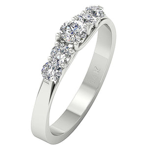 Designer Engagement Ring White Gold-DFR40