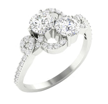 Load image into Gallery viewer, Prong Setting Engagement Ring 14k White Gold-DSR337