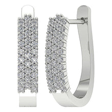 Load image into Gallery viewer, 14k White Gold Earrings-DE204