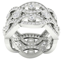Load image into Gallery viewer, Top View Round Diamonds Ring-DETR203