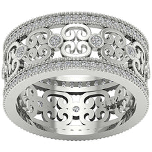 Load image into Gallery viewer, Top View White Gold Diamond Ring-DETR258