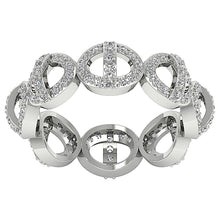 Load image into Gallery viewer, Designer Unique Wedding Eternity Ring I1 G 1.10ct Natural Diamond 14k White Gold