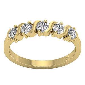 Designer Round Diamonds Eternity Ring-DFR42