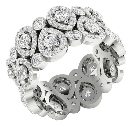 White Gold Designer Eternity Ring-DETR224
