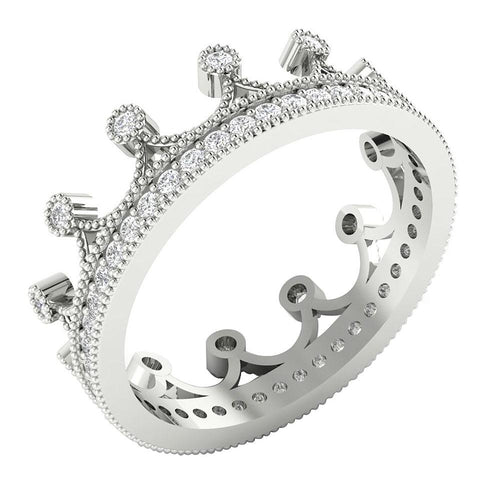 Crown Eternity Round Eternity Ring-DETR226