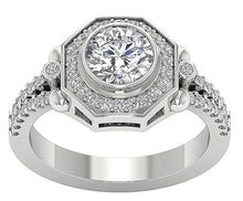 Load image into Gallery viewer, Accent With Solitaire Ring White Gold-DSR647