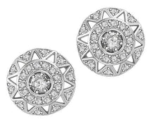 Load image into Gallery viewer, Halo Solitaire Studs Earrings 14k/18k Solid Gold Natural Diamonds SI1 G 0.65 Ct Pave Set
