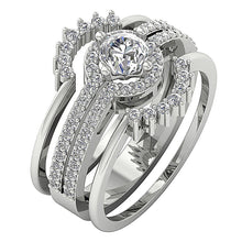Load image into Gallery viewer, 14k White Gold Round Diamond Engagement Ring-CR-192