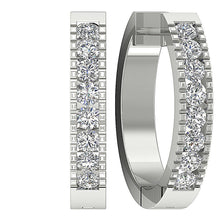 Load image into Gallery viewer, 14k White Gold Earring-DE11