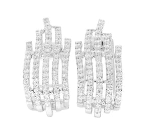 Large Hoops Earrings I1 G 1.00 Ct Natural Diamonds 14k White Yellow Rose Gold