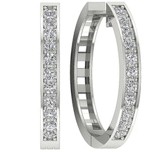Load image into Gallery viewer, 14k White Gold Designer Hoops Earring-DE38