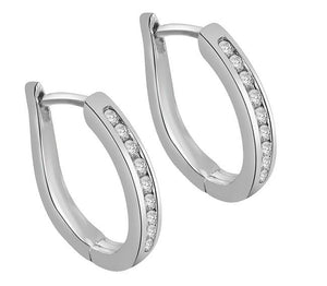 Vintage Hoops White Gold Earring-E-521-1