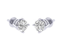Load image into Gallery viewer, SI1 G 0.80 Ct Solitaire Studs Earrings 14k/18k White Gold Round Cut Diamonds