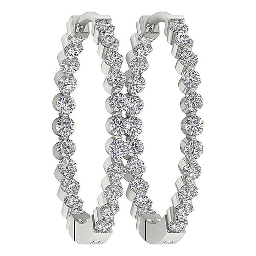 Hoops Designer Natural Diamond Earring-DE20